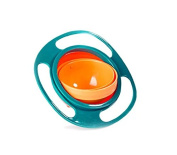 Liroyal Non Spill Feeding Toddler Gyro Bowl 360 Rotating Kids Avoid Food Spilling