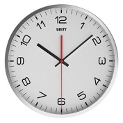 Unity Arabic Stainless Steel Silent Sweep Non-Ticking Wall Clock, 30cm , White