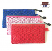 Versatile Decor Zip Up Make Up Mesh Plastic Pouch Bag - Available in 3 sizes