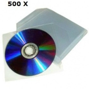 Chance SAS - 500 Universal Clear Sleeves for CD DVD WITH FLAP