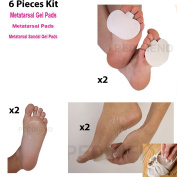 Pedimend Medicated Silicone METATARSAL RELIEF PACK - Foot Ball Pad Cushions - for Callus, Corns, Sore Relief, Metatarsal Gel Pads, Metatarsal Pads, Metatarsal Sandal Gel Pads -