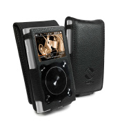 Tuff-Luv Faux Leather Case Cover for Fiio X1 ii (2nd Gen) Mp3 - Black