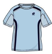 Lotto Men's T-Shirt Slice RN, Arctic/Dark Navy