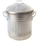 CrazyGadget® Small Medium Large Extra Large Galvanised Steel Metal Dustbin Kitchen House Garden Storage Unit Bin