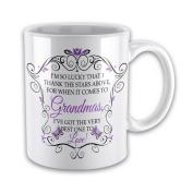 I'm So Lucky That I Thank The Stars Above (GRANDMA - PURPLE) Novelty Gift Mug