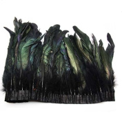 TOOKY 1 Metre(100cm )Length of black feather boa DIY as wrap cape shawl poncho skirt stole