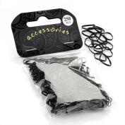 250 Pack Black Neoprene Bands Rubber Hair Bands