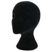 Female Styrofoam Foam Mannequin Head Model Wigs Glasses Hat Display Stand Black
