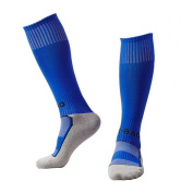 EQLEF® One Pair Blue High-quality Cotton Light Quick-drying Football Socks For Boys 6-8 Years Old