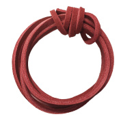 Fresh Step 120cm Red Leather Shoelaces