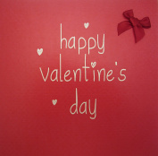 """white cotton cards """"Happy Valentine's Day"""" Hand Finished Valentine's Day Card"""