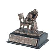 Lighthouse Christian Products Moments of Faith Small Praying Woman Sculpture, 13cm x 10cm