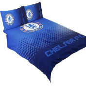 Chelsea FC Official Fade Reversible Football Crest Double Duvet Set (Double Bed)