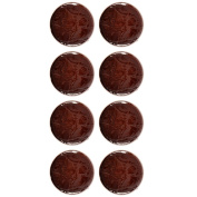Immitation Leather Shank Button Shiny Crocodile pattern 44 Line Brown