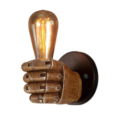 Retro Creative Individual Industry Fist Wall Lamp Hotel Restaurant Bar Cafe Bedroom Bed Resin Decorative Lights