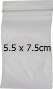 100 Resalable Plastic Zipper Bag 5.5 x 7.5cm Clear Plain Jewellery Carrier Storage Grip Seal Lock Home Office Size Thick