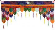 BUDDHAFIGUREN Tibetan Brocade Billy Held Buddhist Door Hanging Chukor 99 cm x 40 cm/Wall Hanging