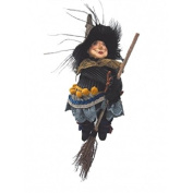 Witches of Pendle - Anne Redfearn Witch Flying (Sage Green) 24cm