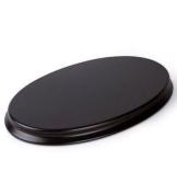 Oval Wooden Display Plinth / Base - Size : 25cm x 15cm Mahogany Colour