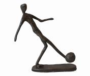 Cast Iron Footballer Sculpture Ornament