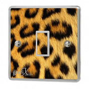 Yellow Leopard Print Light Switch Sticker Vinyl / Skin cover sw21