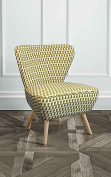 My-Furniture Upholstered Retro Occasional Chair Kelp - Delilah
