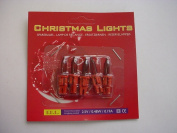 Pack of 5 Push In Spare Fairy Bulbs In Red with Red Base 2.5v 0.48w 0.19a