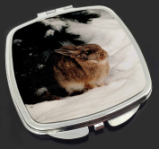 Rabbit in Snow Make-Up Compact Mirror Stocking Filler Gift