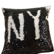 Pillow Cases, Rcool DIY Double Colour Glitter Sequins Throw Pillow Case Cafe Home Decoration Cushion Covers