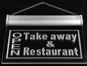 Multi Colour j990-c OPEN Take Away Restaurant Neon LED Sign with Remote Control, 20 Colours, 19 Dynamic Modes, Speed & Brightness Adjustable, Demo Mode, Auto Save Function