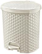 HOBBY LIFE 11.5 Litre Plastic No 2 Rattan Pedal Dustbin