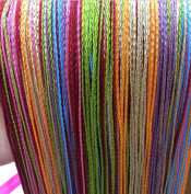Yiyida Multi-colour Tassel Fringe Ready Hanging String Partition Divider 100x200cm Wall Door Curtain One Pair