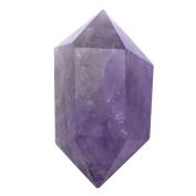 JOVIVI 6 Facet Double Terminated Amethyst Reiki Healing Quartz Crystal Point 1.57 to 5cm