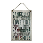 Handmade Wooden ' Dance Like No One's Watching ' Home Sign 397