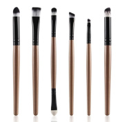 XILALU Cosmetic Makeup Blusher, 6PCS Cosmetic Makeup Brush Lip Makeup Brush Eyeshadow Brush