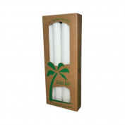New - Aloha Bay Palm Tapers White - 4 Candles