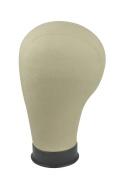 11.5 Size Black Base Cork Canvas Head Block Mannequin Manikin Head Wig Toupee Style Dry Dye 60cm
