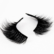 Volúm Lashes Now Your See Me Style Natural 3D Authentic Mink False Eyelashes | Individual Set of Fake Long Black Lash for Beauty and Makeup | Best Top Wispies Extension Pair | Thin Eye Strip with Box