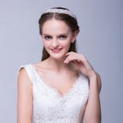 Icegrey Womens Bride Headpiece Crystal Diamonds Wedding Head Chain Hair Band Headpieces Ivory