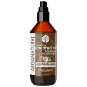 Arganatural Leave-In Coconut Smooth & Repair Conditioner for Hair, 8 Fluid Ounce