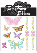 Temporary Tattoos Butterflies 2 Packs Total 18 Tattoos