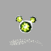 August Birthstone Mickey Mouse Ears Floating Charm fits Lockets
