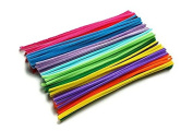 HoneyToys 240pcs 24 Colours Creative Pipe Cleaners Chenille Stem 12 Inches x 6 mm,Pipe Cleaners for Arts and Crafts