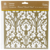 Botanical Damask - Couture Creations Arabesque Stencil 20cm x 20cm