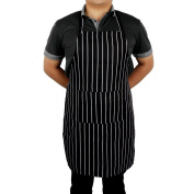 Sicai Strip Apron With Pockets And Adjustable Straps For Butchers Kitchen Cooks Restaurant Bistro Bbq, Bib Aprons For Women And Men