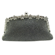 DMIX Womens Evening Bag and Crystal Clutch