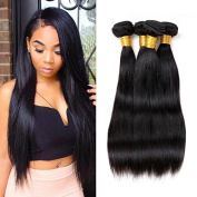 ZILING Brazilian Hair 3 Bundles Straight Human Hair Extensions Unprocessed Brazilian Straight Mixed Length