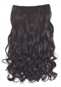 Diforbeauty 60cm Long Curly Wave Full Head 5 Clips in/on Synthetic Hair Extensions 130g