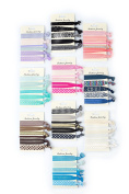 60 Pack! No Crease Hair Ties Hair Ponytail Holders Elastic Styling Accessories Ribbon Bands by HBY