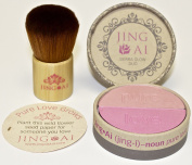 Kabuki Brush & Blush Makeup Set By Jing Ai Two Shades Light Medium Or Dark Skin For Any Complexion Rich In Vitamins A & E Paraben , Gluten & Cruelty Free Vegan Formula Very Nourishing For Your Skin